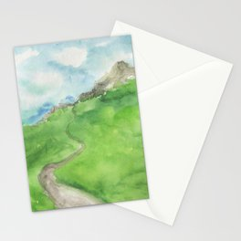 summer abstract background Stationery Cards