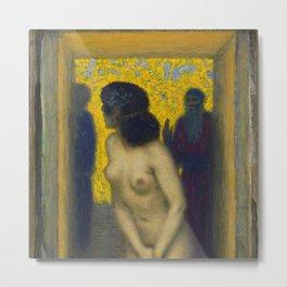Susanna in the bath, masterpiece nude portrait by Franz Von Stuck Metal Print