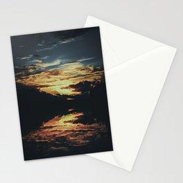 Sundown At Lake Heve 8 dark Stationery Cards