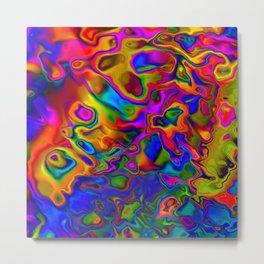 Chromatic Convections Metal Print