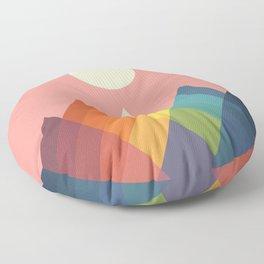 Rainbow Peak Floor Pillow