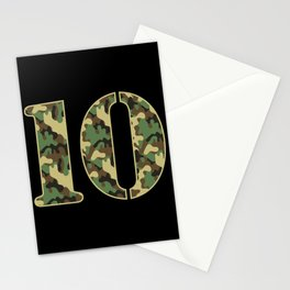 10th Birthday Gift Soldier 10 Year Old Military Themed Camo Stationery Cards