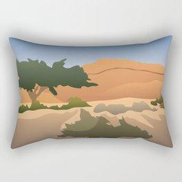 Red Mountains Art Print Rectangular Pillow