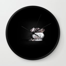 Demise of the rose Wall Clock