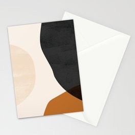 Earth Tone Shapes Stationery Cards