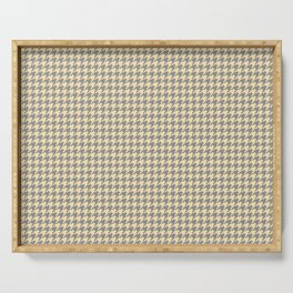Grey Beige Houndstooth Pattern Serving Tray