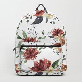 Watercolor Burgundy Backpack