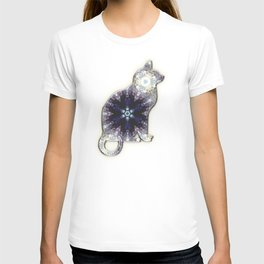 Amethyst Purple Cat Sit-in a Tree T-shirt