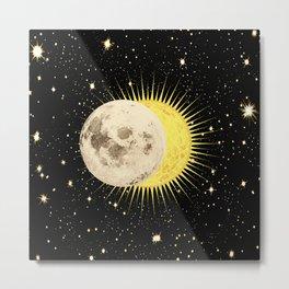 Imminent Eclipse Sun Moon & Stars Space Astronomy Cosmos Solar Lunar Metal Print