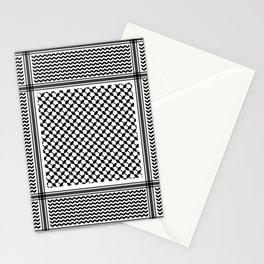 Black Arab Keffiyeh Stationery Cards