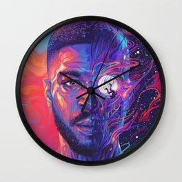 Man On The Moon III Poster Print Wall Clock
