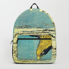 Hiroshige, Hawk Flight Over Field Backpack