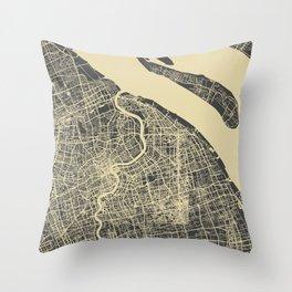 Shanghai Map #1 Throw Pillow