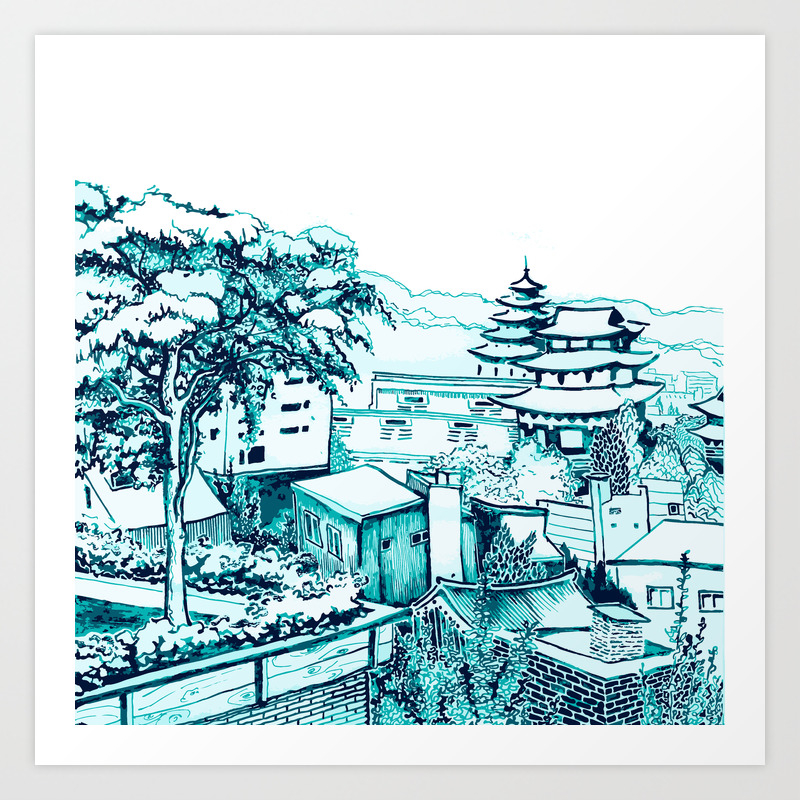 Samcheong Dong Art Print by Tahniosterman PRN4330463