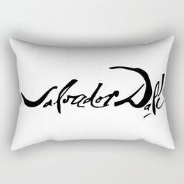 Salvador Dali's Signature Rectangular Pillow