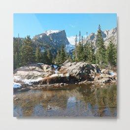 Watercolor Landscape, Dream Lake 01, RMNP, Colorado Metal Print