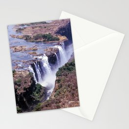 Aerial view of Victoria Falls Stationery Cards