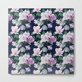 Magnolia Floral Frenzy Metal Print