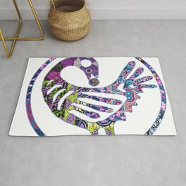 Purple Sankofa Bird Rug