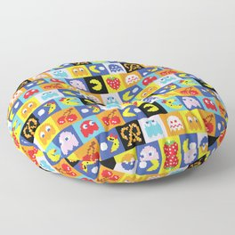 Pac-Man Pattern Floor Pillow