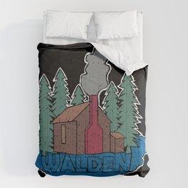 Walden - Henry David Thoreau (Coloured textured version) #society6 #decor #buyart Comforters