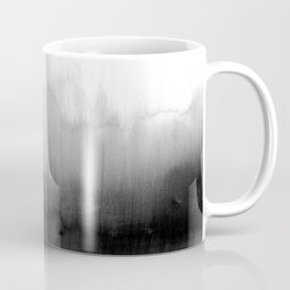 Modern Black and White Watercolor Gradient Coffee Mug