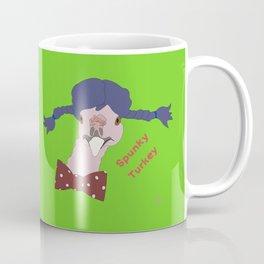 Spunky Turkey Purple Hair GB TX Coffee Mug