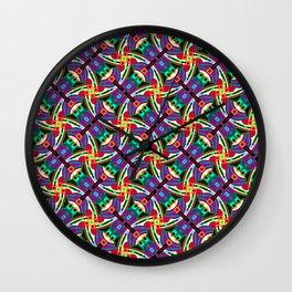 Funky Festival Geo - Festival Geometric Pattern 1 Wall Clock
