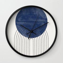 Blue Sun Wall Clock