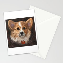 Corgi - Digital pet portrait Stationery Cards