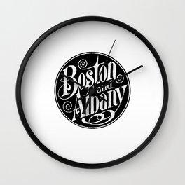 BOSTON & ALBANY Railroad circa 1900 Wall Clock