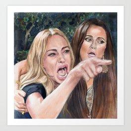Woman Yelling at Cat Meme-1 Art Print