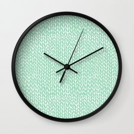 Hand Knit Mint Wall Clock