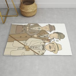 The Detectives - Marple, Poirot and Sherlock Rug