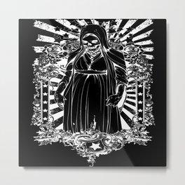Skull Angel Metal Print