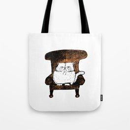 Staring Cat (Orange) Tote Bag