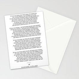 If - Rudyard Kipling - Minimal, Sophisticated, Modern, Classy Typewriter Print Stationery Cards