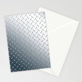 Diamond Plate Metal Pattern Stationery Cards
