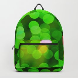 glowing confetti in green Backpack