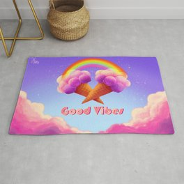 Good Rainbow vibes Rug