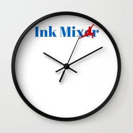 Ink Mixer Ninja in Action Wall Clock
