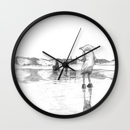 """""""Death of a Free Elf"""" - Dobby in Deathly Hallows Wall Clock"""