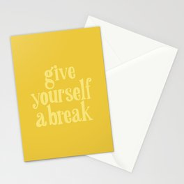 Give Yourself a Break Stationery Cards