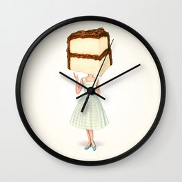 Cake Head Pin-Up - Chocolate Wall Clock