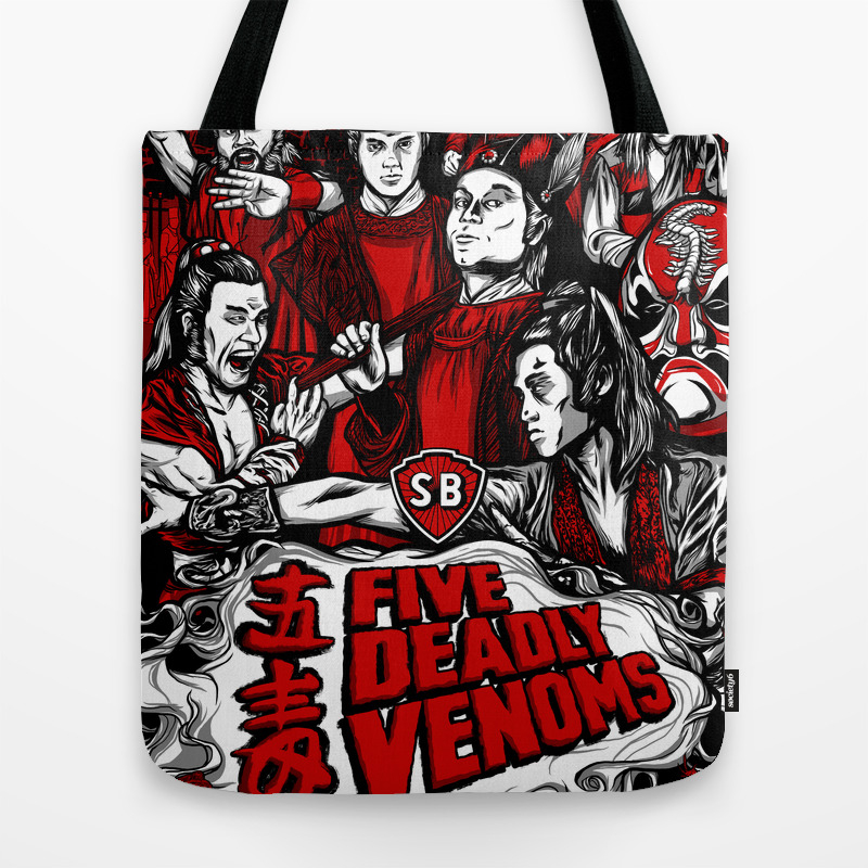Five Deadly Venoms Movie Poster Tote Bag by Legendaryweapons TBG7696440