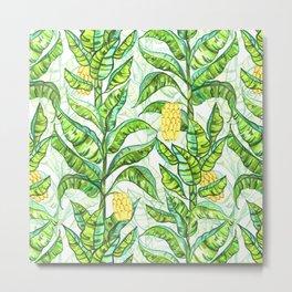 Lush Gouache Banana Trees Metal Print