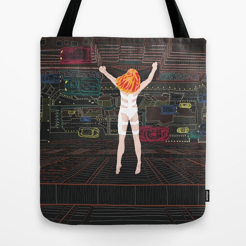 Leeloo - The Fifth Element Tote Bag by Munamia TBG7742859