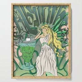 Art Nouveau Absinthe Poster Serving Tray