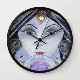 THE AMAZING - Gypsy Witch, Fortune Teller Wall Clock