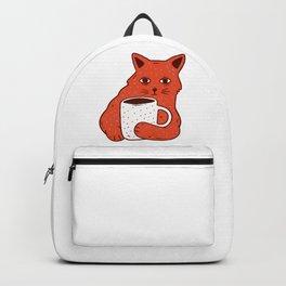 Peach Coffee Kitten Backpack